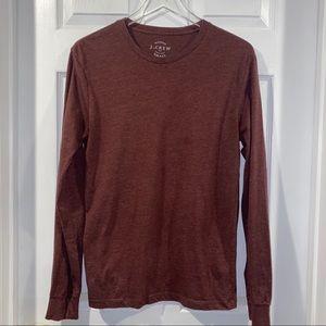 Burgundy J Crew long sleeve T-shirt